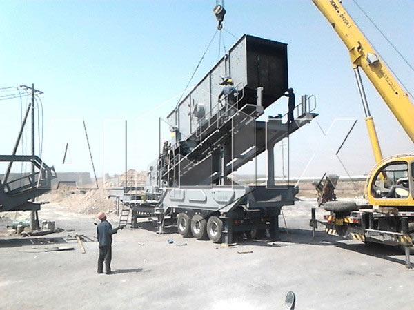 AIM3S154PSG09 stone-mobile-crushing-plant