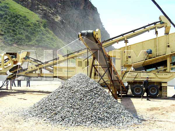 AIM938FW1214 stone mobile impact crushing plant