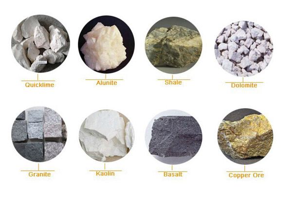 kaolin crusher materials