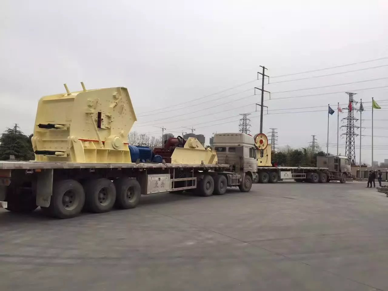 rock crushing process line delivery