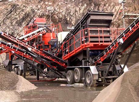 mobile crushing & screening plant
